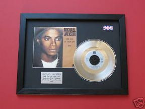 "MICHAEL JACKSON - One Day In Your Life 7"" platinum DISC with cover"